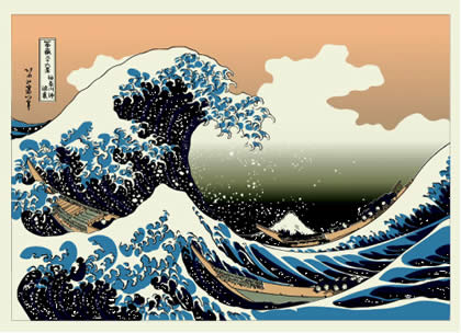 Famous Asian Painting Waves